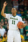 WACO, TX - JANUARY 31: Lester Medford #11 of the Baylor Bears brings the ball up court against the Texas Longhorns on January 31, 2015 at the Ferrell Center in Waco, Texas.  (Photo by Cooper Neill/Getty Images) *** Local Caption *** Lester Medford