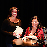 Diana Gabaldon during backstage book signing after speaking at a Writers on a New England Stage show at The Music Hall in Portsmouth, NH