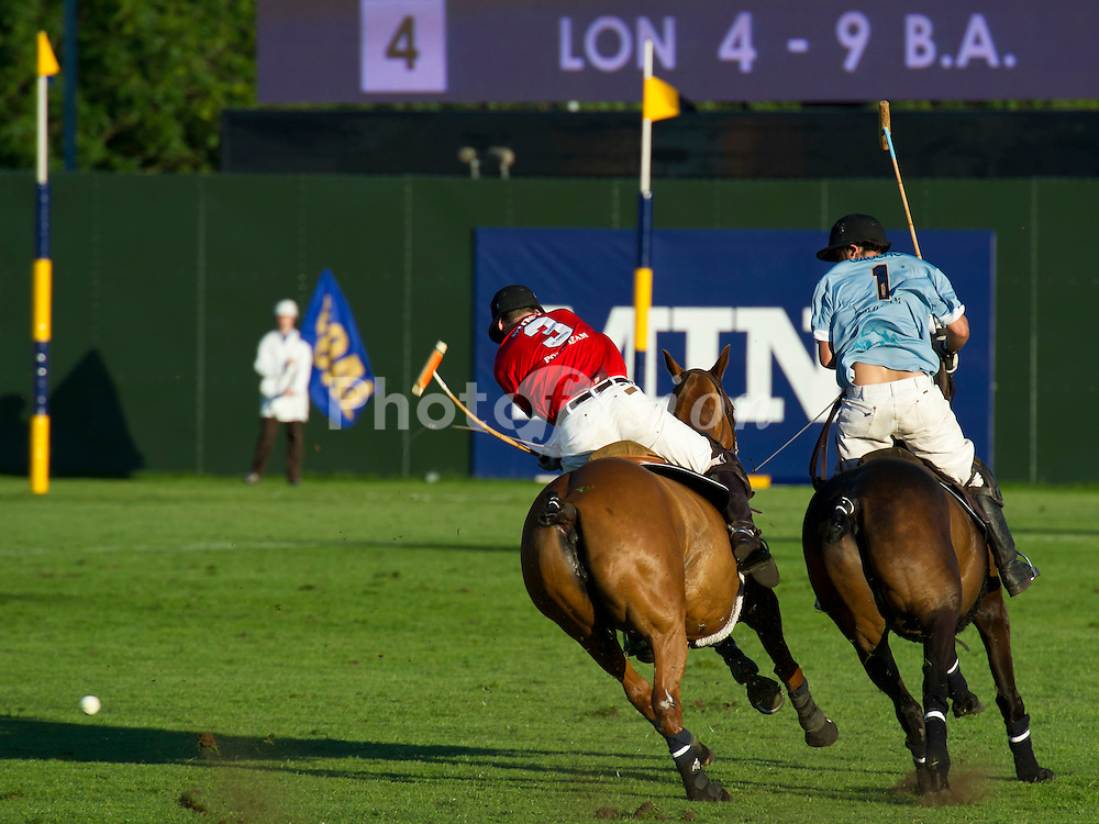 Mint Team London lose to Gaucho Team Buenos Aires (blue). MINT Polo in The Park is the leading outdoor polo and lifestyle event in Central London.  Held at Hurlingham Park, Fulham the tournament included six international teams from London, New York, Moscow, Abu Dhabi, Sydney and Buenos Aries. Friday 3 June 2011