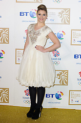 Ella Henderson during the BT Olympic Ball, held at the Grosvenor Hotel, London, UK, November 30, 2012. Photo By Anthony Upton / i-Images.