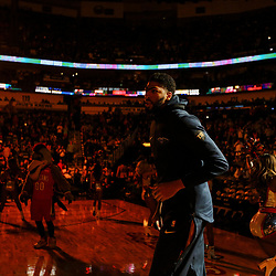 Apr 11, 2018; New Orleans, LA, USA; New Orleans Pelicans forward Anthony Davis before a game against the San Antonio Spurs at the Smoothie King Center. Mandatory Credit: Derick E. Hingle-USA TODAY Sports