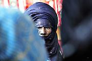"""Tuareg elder in Tamanrasset during the """"III Rencontre Internazionale d'Imzad"""", Algeria 2011."""