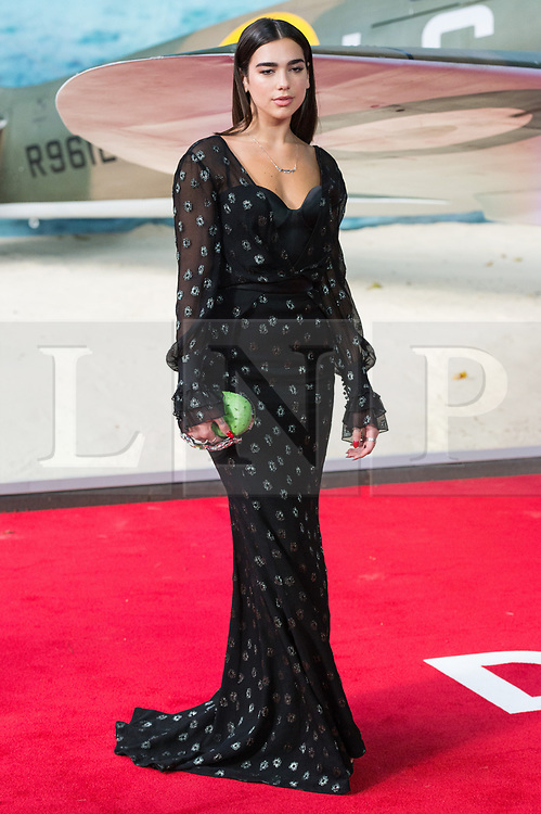 © Licensed to London News Pictures. 13/07/2017. London, UK. DUA LIPA attends the Dunkirk World Film Premiere. Photo credit: Ray Tang/LNP