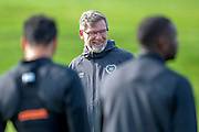 Craig Levein, manager of Heart of Midlothian, takes training ahead of the visit of Livingston FC, at Oriam Sports Performance Centre, Riccarton, Edinburgh, Scotland on 20 September 2018.