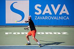 Markus Eriksson (SWE) play against Anze Arh (SLO) at ATP Challenger Zavarovalnica Sava Slovenia Open 2018, on August 5, 2018 in Sports centre, Portoroz/Portorose, Slovenia. Photo by Urban Urbanc / Sportida