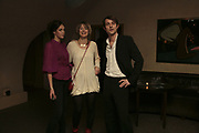 Moss Barclay, Lily Geissendorfer and Sam Hodges, Party to launch High Tide Writers Festival which will be held in Halesworth, Suffolk. Adam St. Club. 10 January 2007.  -DO NOT ARCHIVE-© Copyright Photograph by Dafydd Jones. 248 Clapham Rd. London SW9 0PZ. Tel 0207 820 0771. www.dafjones.com.