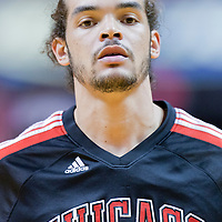 06 March 2011: Chicago Bulls center Joakim Noah (13) is seen prior to the Chicago Bulls 87-86 victory over the Miami Heat at the AmericanAirlines Arena, Miami, Florida, USA.