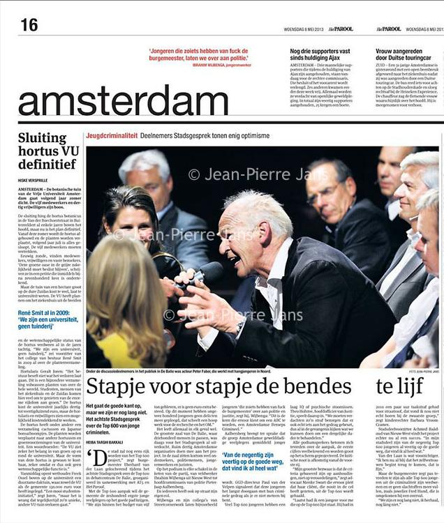 Parool 8 mei 2013: Stadsgesprek en Peter Faber