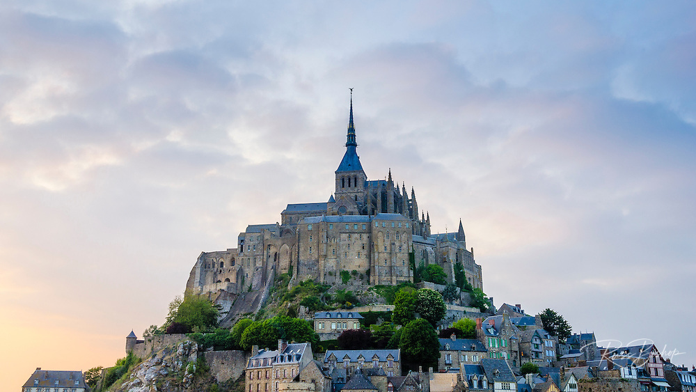 Evening light over Mont Saint-Michel, Normandy, France