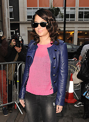 Tulisa Contostavlos at BBC Radio 1 in central London, UK. 29/10/2012<br />BYLINE MUST READ : GOTCHAIMAGES.COM<br /><br />Copyright by © Gotcha Images Ltd. All rights reserved.<br />Usage of this image is conditional upon the acceptance <br />of Gotcha Images Ltd, terms and conditions available at<br />www.gotchaimages.com