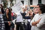 Bogota, Cundinamarca, Colombia - 09.09.2016        <br /> <br /> Protest march of students and university staff in Bogota for the peace agreement between the Colombian government and the FARC. A referendum about the peace contract will take place on the 2nd of October this could be end of the 52 years long war between FARC and the Colombian government.<br /> <br /> Proteste von Studierenden und Universitaetsangestellten in Bogota fuer das Friedensabkommens zwischen der kolumbianischen Regierung und der FARC. Am 02. Oktober findet ein Volksentscheid ueber den Friedensvertrag statt, sollte dieser Angenommen werden wuerde der 52-jaehriger Krieg zwischen der FARC und der Regierung enden.<br />  <br /> Photo: Bjoern Kietzmann