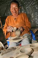 Alberto Carrera, Local People, Clay Craft, Napo River Basin, Amazonia, Ecuador, South America, America<br /> <br /> EDITORIAL USE ONLY