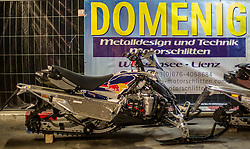 07.12.2014, Saalbach Hinterglemm, AUT, Snow Mobile, im Bild Service und Reparatur Bereich von Domenig Motorschlitten // during the Snow Mobile Event at Saalbach Hinterglemm, Austria on 2014/12/07. EXPA Pictures © 2014, PhotoCredit: EXPA/ JFK