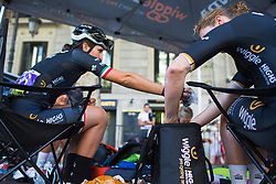 Elisa Longo-Borghini (ITA) of Wiggle High5 Cycling Team prepares for Stage 2 of the Madrid Challenge - a 100.3 km road race, starting and finishing in Madrid on September 16, 2018, in Spain. (Photo by Balint Hamvas/Velofocus.com)