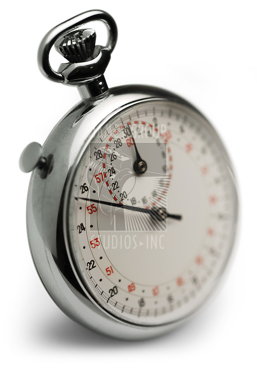stop watch, macro with selective focus on white