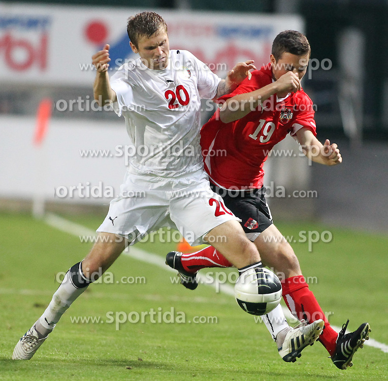 11.08.2010, Waldstadion Pasching, Pasching, AUT, UEFA U21 EM Qualifikation, Oesterreich vs Weissrussland, im Bild Christopher Drazan,(Austria, Mittelfeld, #19), EXPA Pictures © 2010, PhotoCredit: EXPA/ R. Hackl / SPORTIDA PHOTO AGENCY
