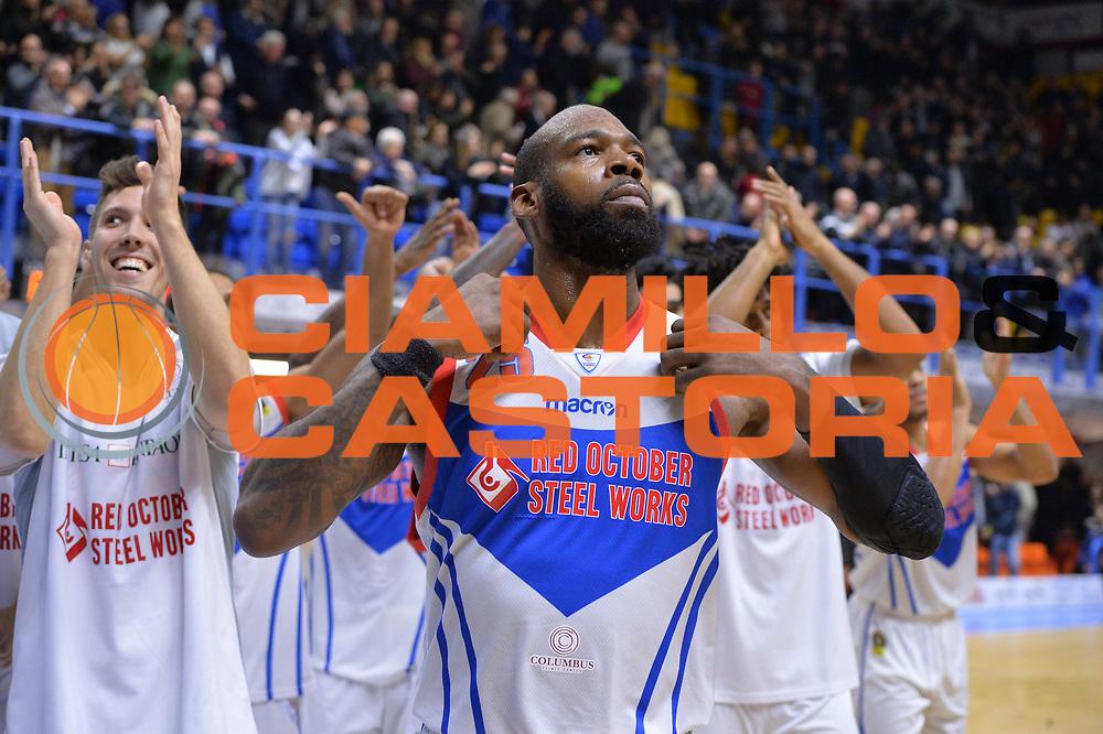 Thomas Charles<br /> Happycasa Basket Brindisi - Red October Cantu<br /> Legabasket A 2017-2018<br /> Brindisi 14 /01/2018<br /> Foto Ciamillo-Castoria/ M. Longo