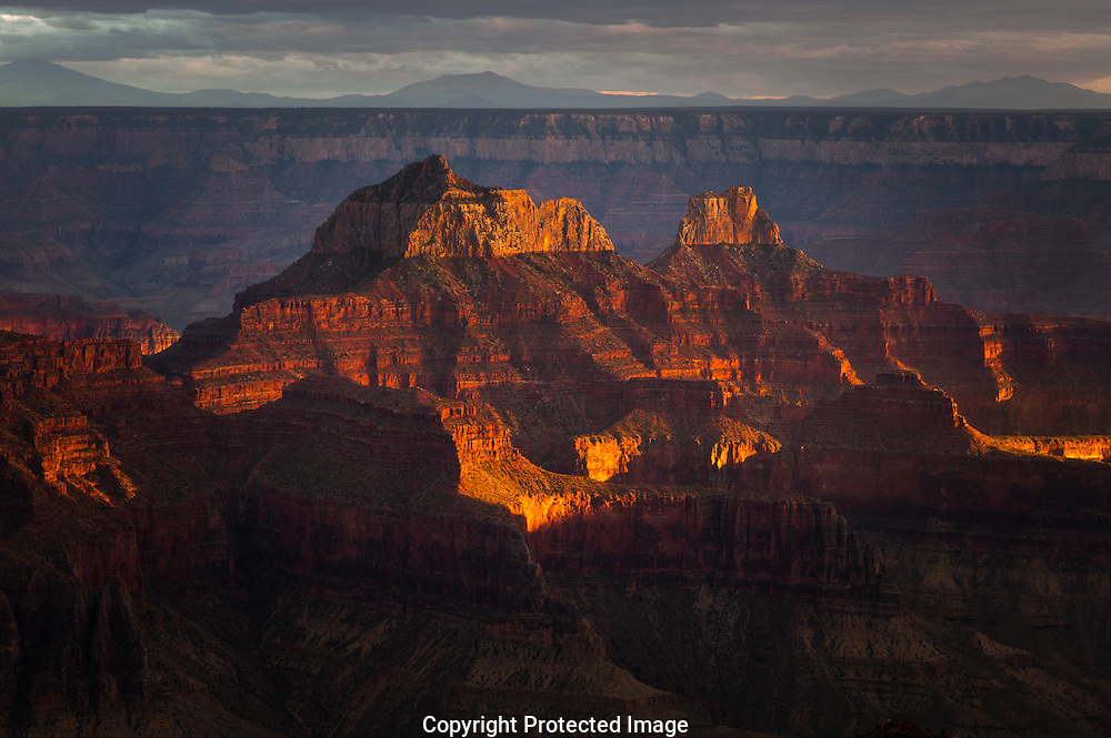 Grand Canyon, North Rim, Zoraster, dramatic sunset light, GCNP, AZ