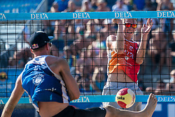 25-08-2019 NED: DELA NK Beach Volleyball, Scheveningen<br /> Last day NK Beachvolleyball / Stefan Boermans #2, Alexander Brouwer #1