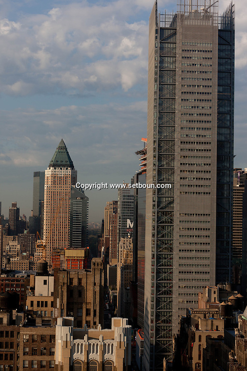 New York cityscape , times square  elevated view and midtown,
