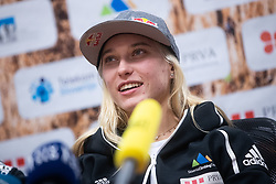 Janja Garnbret 3 time world champion during PZS press conference after IFSC Climbing World Championships in Hachioji (JPN) 2019, on August 23, 2019 at Ministry of Education, Science and Sport, Ljubljana, Slovenia. Photo by Grega Valancic / Sportida