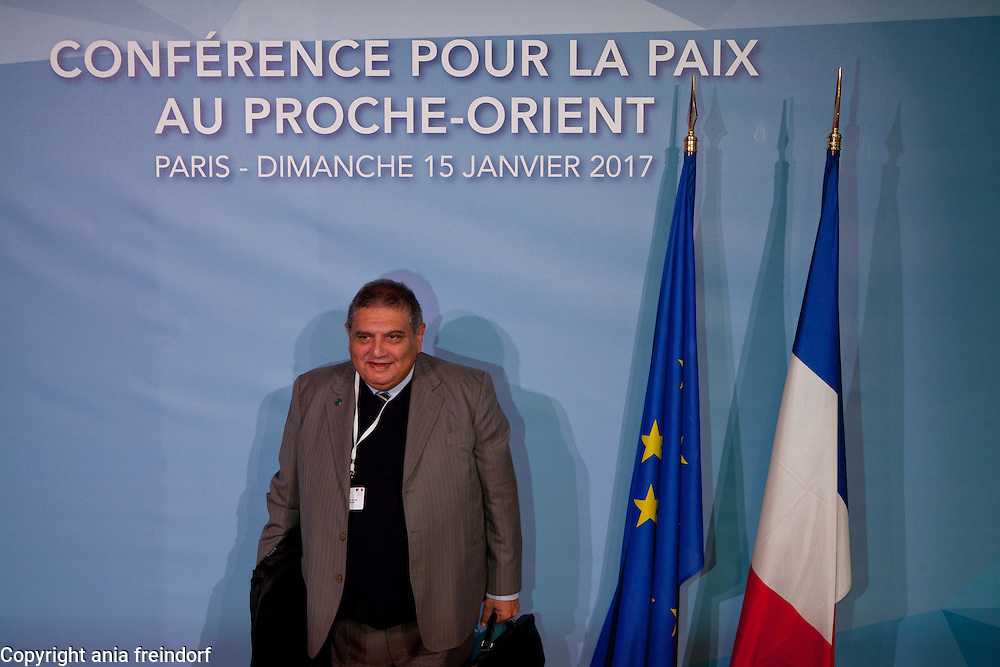 Middle East Peace Conference, Paris, France. International summit. 7O countries have participated in the summit. Mohammed Dangor, advisor to the Foreign Minister and the former South African Ambassador to Libya