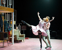 Hansel and Gretel.The Royal Ballet at The Royal Opera House, Covent Gafden, London, Great Britain .rehearsal .7th May 2013 ..Choreography by .Liam Scarlett ..Music.Dan Jones..Designs.Jon Bausor..Lighting design.Paul Keogan...The Father.Bennet Gartside..The Stepmother.Laura Morera, 7th May 2013. Photo by Elliott Franks / i-Images...