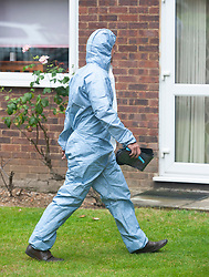 © Licensed to London News Pictures. 19/07/2019.<br /> Beckenham ,UK. Forensic officers at the scene. Police have launched a murder investigation after the body of a woman was found at a residential address in Beckenham, South East London. Police were called on Thursday 18th July. She was pronounced dead at the scene.  Photo credit: Grant Falvey/LNP