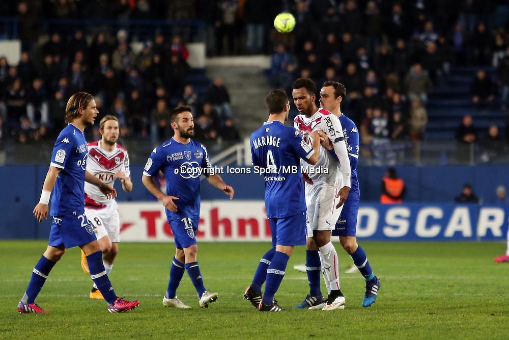 Florian MARANGE / Isaac Kiese THELIN  - 24.01.2015 - Bastia / Bordeaux  - 22eme journee de Ligue1<br /> Photo : Michel Maestracci / Icon Sport *** Local Caption ***