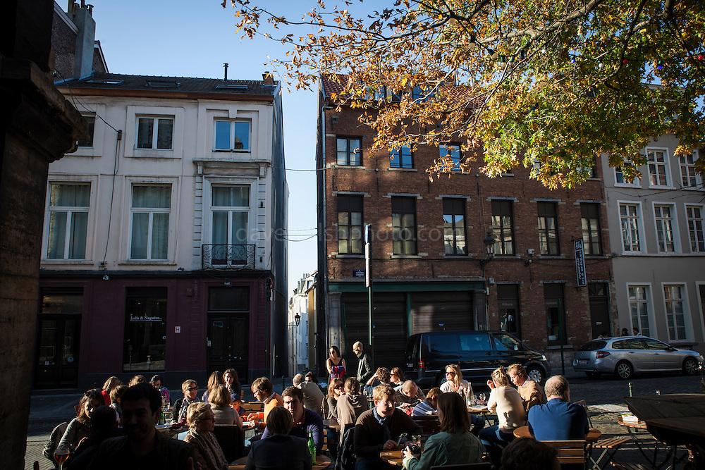 Cafe Culture in Brussels, Belgium.