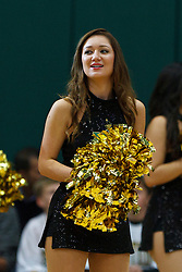 Dec 10, 2011; San Francisco CA, USA;  A San Francisco Dons cheerleader performs before the game against the Pacific Tigers at War Memorial Gym.  San Francisco defeated Pacific 79-69. Mandatory Credit: Jason O. Watson-US PRESSWIRE