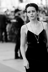 September 24, 2018 - San Sebastian, Spain - (EDITOR'S NOTE: Image was converted to black and white) Claire Foy attends the 'First Man' Red Carpet during the 66th San Sebastian International Film Festival on September 24, 2018 in San Sebastian, Spain. (Credit Image: © Manuel Romano/NurPhoto/ZUMA Press)