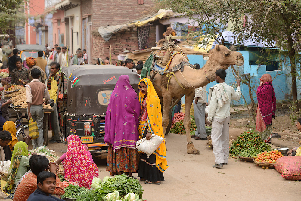 Market,City of Karauli,Rajasthan,India