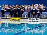 Team Italy ITA<br /> Italy ITA (White cup) Vs Hungary HUN (Blue cup)<br /> Waterpolo Women's FINA Europa Cup<br /> Piscina Monte Bianco - Verona VR<br /> Photo Pasquale Mesiano/ Deepbluemedia /Insidefoto