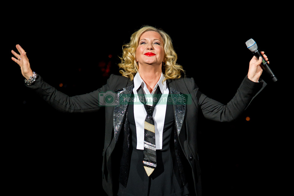 Olivia Newton John performing at the Royal Albert Hall in central London.