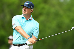 May 3, 2019 - Charlotte, NC, U.S. - CHARLOTTE, NC - MAY 03:  Ernie Els plays his shot from the 13th tee in round two of the Wells Fargo Championship on May 03, 2019 at Quail Hollow Club in Charlotte,NC. (Photo by Dannie Walls/Icon Sportswire) (Credit Image: © Dannie Walls/Icon SMI via ZUMA Press)