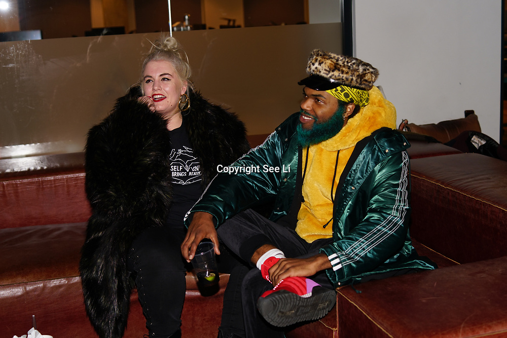 London, England, UK. 1st December 2017. Felicity Hayward,Rome Fortune attends Sagaboi Magazine: Men's Style 2017 - book launch held at WeWork Old Street.