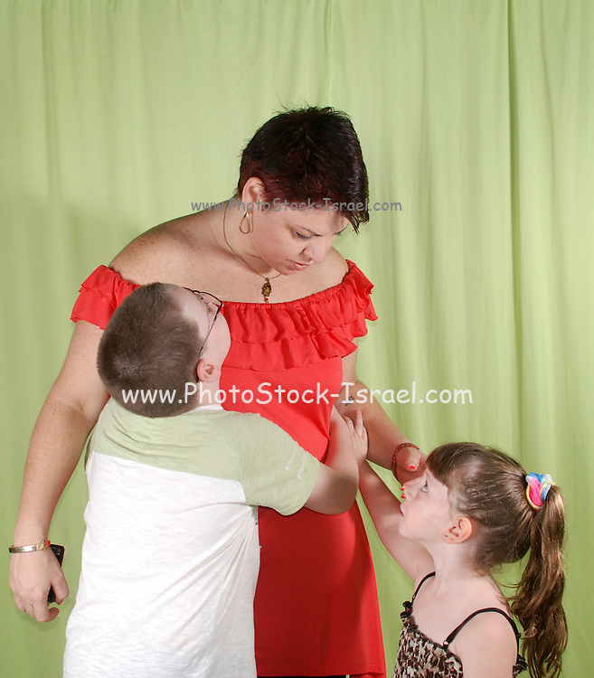 Mother with her two offsprings
