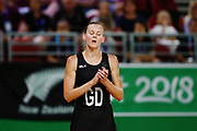 Katrina Grant of New Zealand reacts. Gold Coast 2018 Commonwealth Games, Netball, New Zealand Silver Ferns v England, Gold Coast Convention and Exhibition Centre, Gold Coast, Australia. 11 April 2018 © Copyright Photo: Anthony Au-Yeung / www.photosport.nz