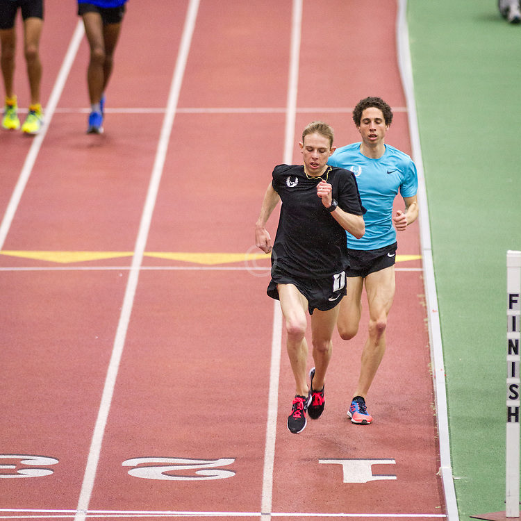 Oregon Distance Project post-meet workout on BU indoor track