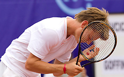 David Goffin of Belgium  plays in final match against Blaz Kavcic of Slovenia during day five of the ATP Challenger  BMW Ljubljana Open 2010, on September 26, 2010,  in TC Ljubljana Siska, Slovenia.  (Photo by Vid Ponikvar / Sportida)