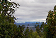View of Lake Gordon from Gordon River Road, near the Florentine Valley, where activists are currently blockading attempts by the logging industry to harvest old growth forest.