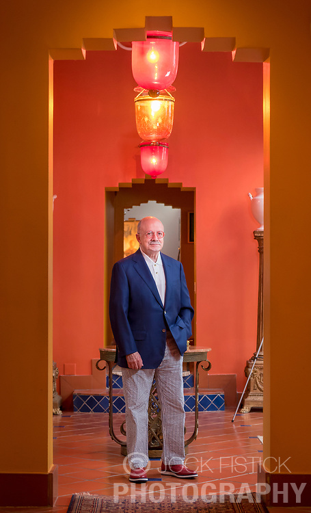 Eduardo Padrón, president of Miami Dade College, at his Little Havana home Miami. Time magazine named him one of the ten best college presidents in 2009, and he was awarded the Presidential Medal of Freedom in 2016.