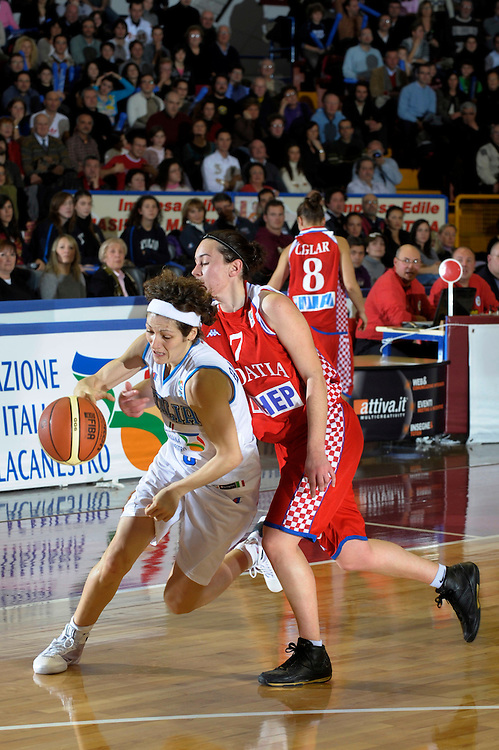 DESCRIZIONE : Venezia Additional Qualification Round Eurobasket Women 2009 Italia Croazia<br /> GIOCATORE : Simona Ballardini<br /> SQUADRA : Nazionale Italia Donne<br /> EVENTO : Italia Croazia<br /> GARA :<br /> DATA : 10/01/2009<br /> CATEGORIA : Palleggio<br /> SPORT : Pallacanestro<br /> AUTORE : Agenzia Ciamillo-Castoria/M.Gregolin<br /> Galleria : Fip Nazionali 2009<br /> Fotonotizia : Venezia Additional Qualification Round Eurobasket Women 2009 Italia Croazia<br /> Predefinita :