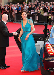 The Duchess of Cambridge arriving at a gala celebration of Team GB and Paralympics GB  at the Royal Albert Hall in  London, Friday 11th May 2012.  Photo by: Stephen Lock