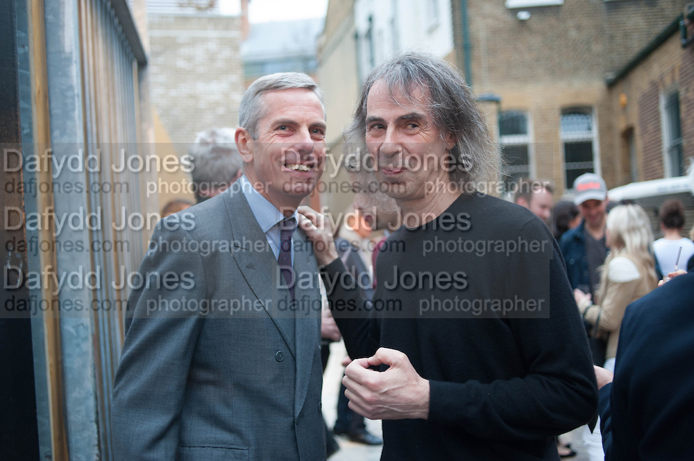 STEPHEN WHITE; IVOR BRAKA, Opening of Dairy with Quicksand- John M. Armleder. Dairy art Centre. ~Bloomsbury. 24 April 2013.