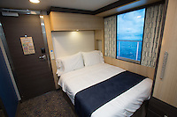 Royal Caribbean International launches Quantum of the Seas, the newest ship in the fleet, in November 2014<br /> <br /> Studio Interior Stateroom with virtual balcony