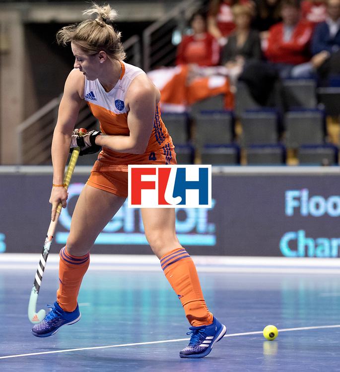 BERLIN - Indoor Hockey World Cup<br /> Women: Netherlands - Switzerland<br /> foto: Lieke van Wijk, PC went wrong.<br /> WORLDSPORTPICS COPYRIGHT FRANK UIJLENBROEK
