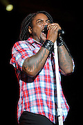 Sevendust performs on May 15, 2011 at Verizon Wireless Amphitheater in St. Louis, Missouri. © 2011 Todd Owyoung.
