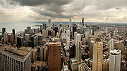A panorama of downtown Chicago from the Hancock observation deck